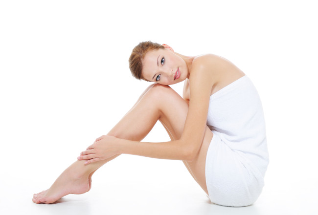 Beauty Woman with healthy skin of  legs